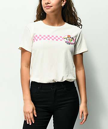 Powerpuff Checkered Off-White Pigment Dyed T-Shirt