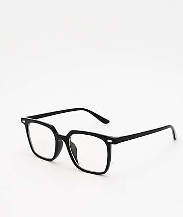 Pretender Square Frame Black Clear Glasses