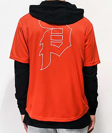 Primitive 2Fer Red & Black Baseball Hoodie