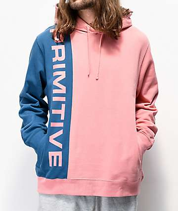 Primitive Blocks Salmon & Blue Hoodie