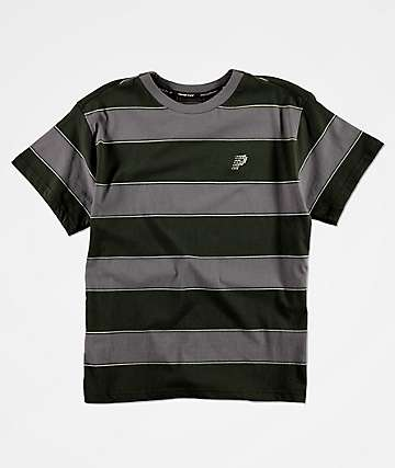 Primitive Boys Hi Eight Black & Grey Stripe Knit T-Shirt