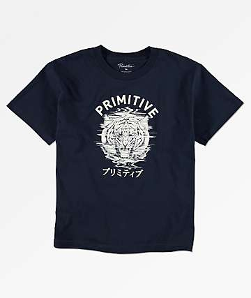 Primitive Boys Tiger Navy T-Shirt