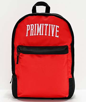 Primitive Collegiate Arch Homeroom Blue, Grey & Red Backpack