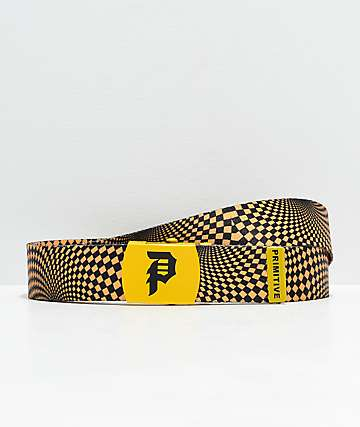 Primitive Dirty P Black Web Belt
