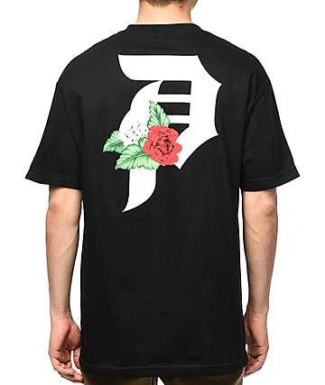 Primitive Dirty P Dos Flores Black T-Shirt