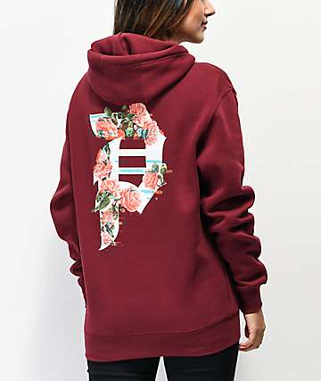 Primitive Dirty P Glitch Burgundy Hoodie
