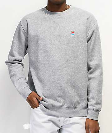 Primitive Dirty P Grey Crew Neck Sweatshirt