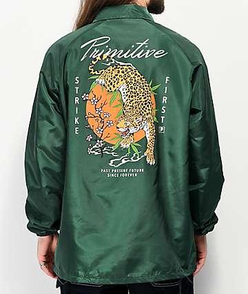 Primitive Ginza chaqueta entrenador verde