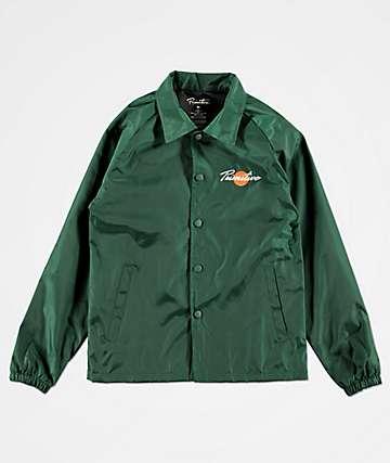 Primitive Ginza chaqueta entrenador verde para niños