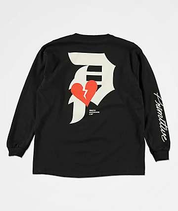 Primitive Heartbreaker camiseta negra de manga larga para niños