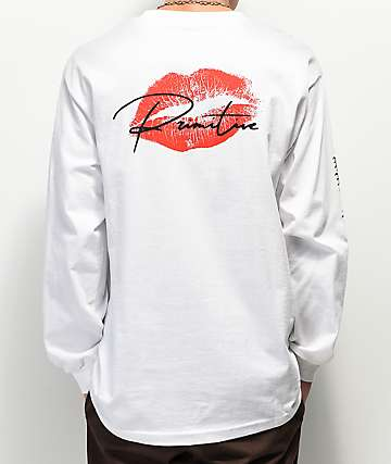 Primitive Heartbreakers Lover White Long Sleeve T-Shirt