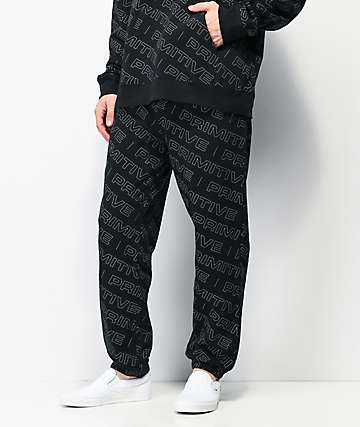 Primitive High Viz Black Sweatpants
