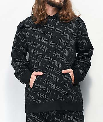 Primitive High Viz sudadera con capucha negra