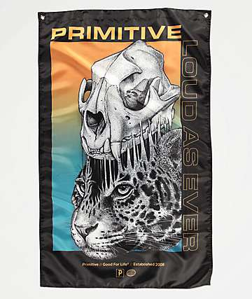 Primitive Jungle Black Banner