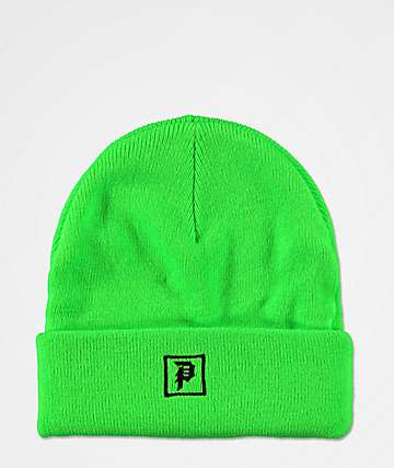Primitive Legend Neon Green & Black Beanie