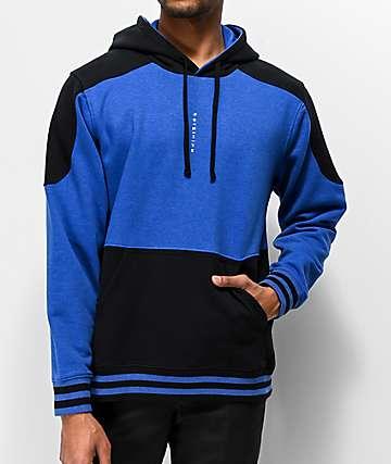 Primitive Moods Contoured Blue & Black Hoodie