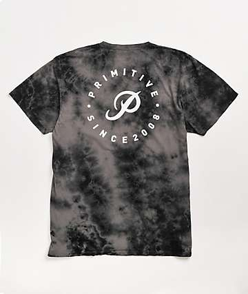 Primitive Orbit Black Crystal Wash T-Shirt
