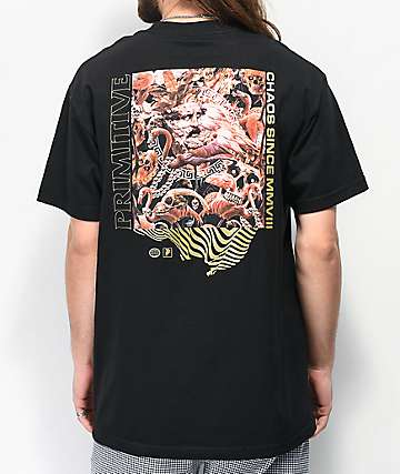 Primitive Pack Chaos Black T-Shirt