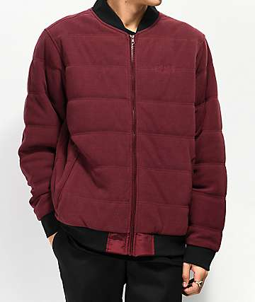 Primitive Polar Burgundy Bomber Jacket