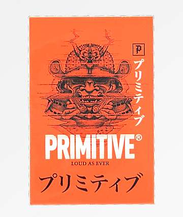 Primitive Samurai Red Sticker