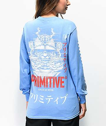 Primitive Samurai Slate Blue Long Sleeve T-Shirt