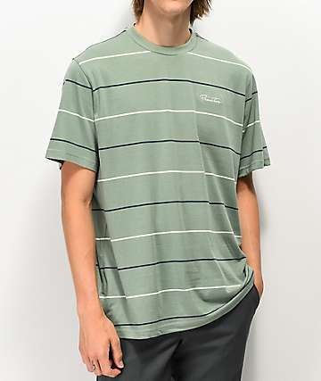 Primitive Slauson Olive Stripe Knit T-Shirt