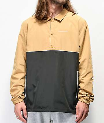 Primitive Tan & Black Anorak Coaches Jacket