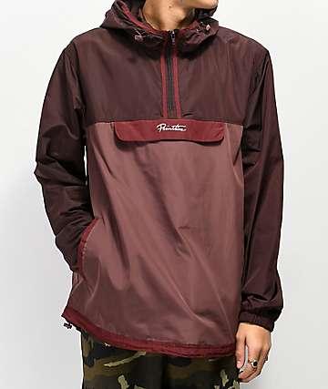 Primitive Taped Burgundy Anorak Jacket