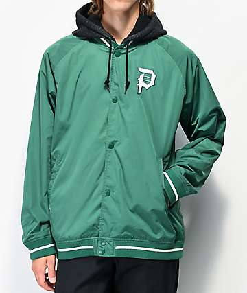 Primitive Two-Fer Green Varsity Jacket