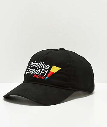 Primitive x Crupie Racing Black Strapback Hat