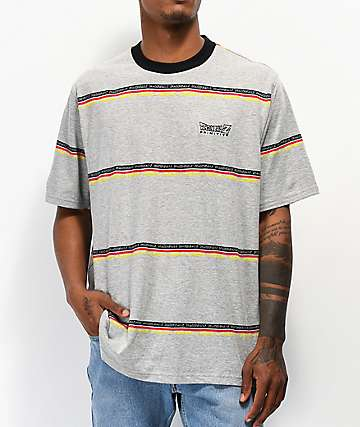 Primitive x Dragon Ball Z Co Op Stripe Grey T-Shirt