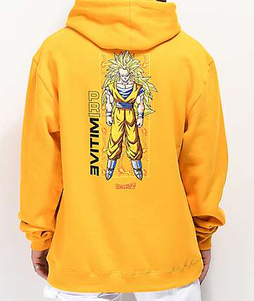 Primitive x Dragon Ball Z Goku Glow Gold Hoodie