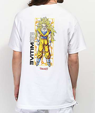Primitive x Dragon Ball Z Goku Glow camiseta blanca