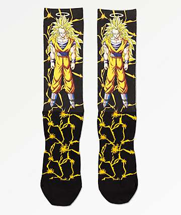 Primitive x Dragon Ball Z Goku Power Level Black Crew Socks