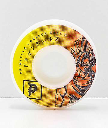 Primitive x Dragon Ball Z Goku Team 52mm 99a Skateboard Wheels