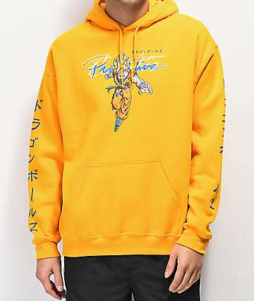 Primitive x Dragon Ball Z Nuevo Super Saiyan Goku Gold Hoodie