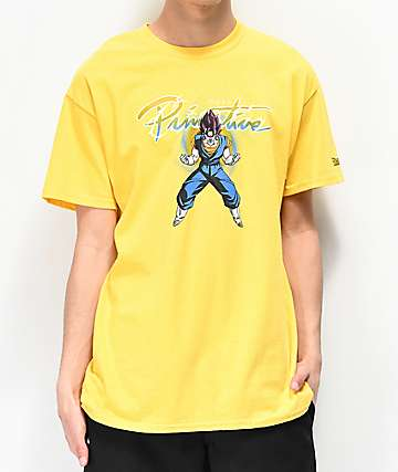 Primitive x Dragon Ball Z Nuevo Vegito Yellow T-Shirt