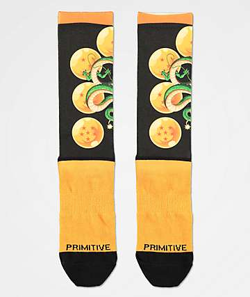 Primitive x Dragon Ball Z Shenron Wish Black Crew Socks