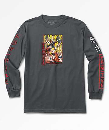 Primitive x Dragon Ball Z Super Saiyan Goku Charcoal Long Sleeve T-Shirt