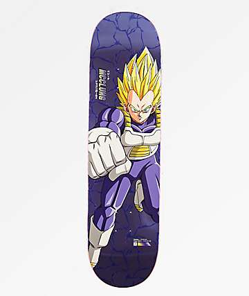 "Primitive x Dragon Ball Z Super Saiyan Vegeta McClung Reflective 8.25"" Skateboard Deck"