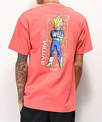 Primitive x Dragon Ball Z Vegeta Glow Pink T-Shirt