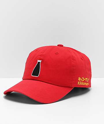 Primitive x Kikkoman Bottle Red Strapback Hat