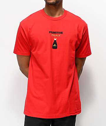 Primitive x Kikkoman Red Cap Red T-Shirt