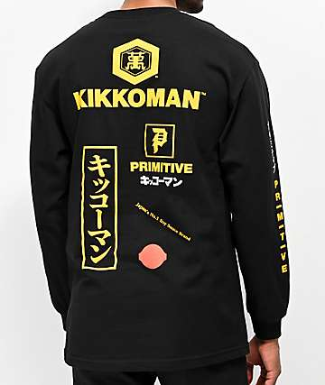 Primitive x Kikkoman Season Black Long Sleeve T-Shirt