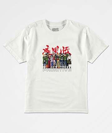 Primitive x Naruto Boys Leaf Village White T-Shirt