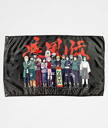 Primitive x Naruto Leaf Village Black Banner
