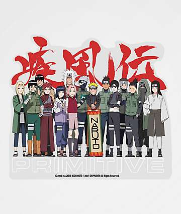 Primitive x Naruto Leaf Village pegatina