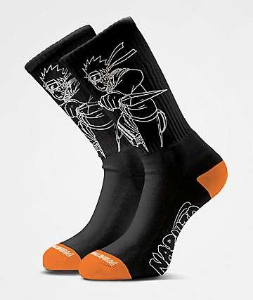 Primitive x Naruto Uzumaki Black Crew Socks