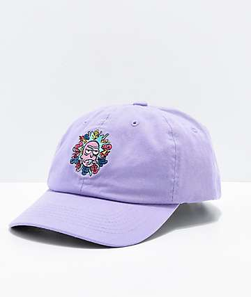 Primitive x Rick and Morty Lavender Strapback Hat