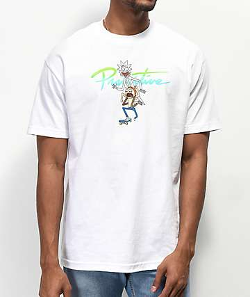Primitive x Rick and Morty Nuevo Skate White T-Shirt